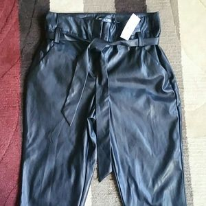 NY & Co. Belted Faux Leather Pants Size 6P NWT